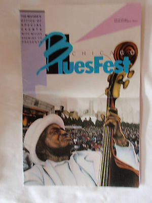 1987 Chicago Bluesfest Promotional Advertising Brochure    12 Pages