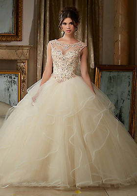 Custom New Formal Prom Party Quinceanera Dresses Ball Gown Pageant Wedding Dress