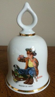 """The Wonderful World Of Norman Rockwell-Limited Edition Bell """"Friend In Need"""""""