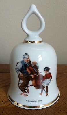 """The Wonderful World Of Norman Rockwell-Limited Edition Bell """"Grandpa's Girl"""""""