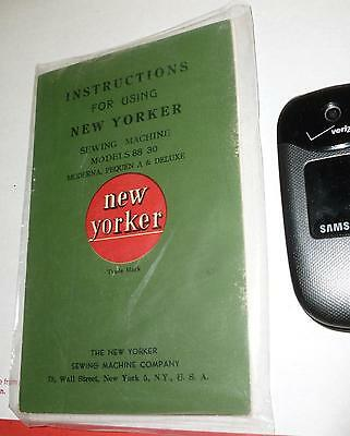 Vtg*New York*Sewing Machine Manual*#88/#30*Moderna/Penquin A/Deluxe*1910-1930's