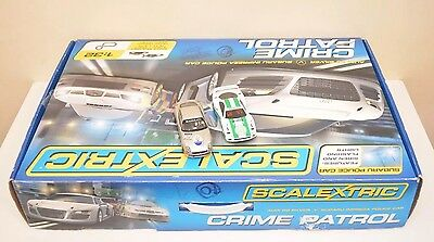 Scalextric C1282 Crime Patrol 1:32 Scale Race Set With 2x Limited Edition Cars
