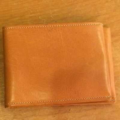 Amity Vintage Tan Leather New Mens Wallet