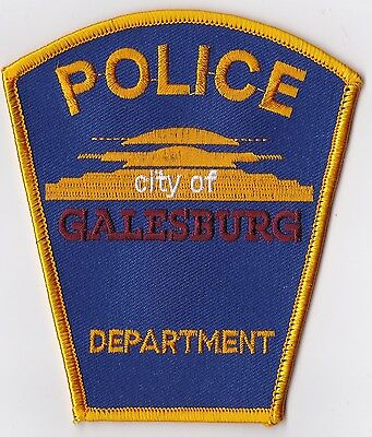 City of Galesburg Police Patch Illinois IL NEW!!