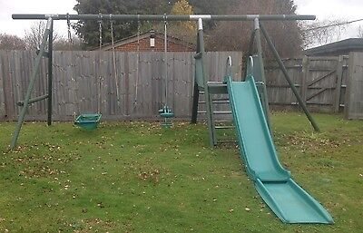 Wooden Climbing Frame with Swings Slide