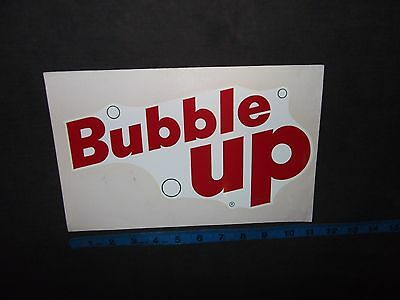 Bubble Up Water Decal Vintage KwikWay Cooler Sticker 1960 Meyercord Co Coca Cola