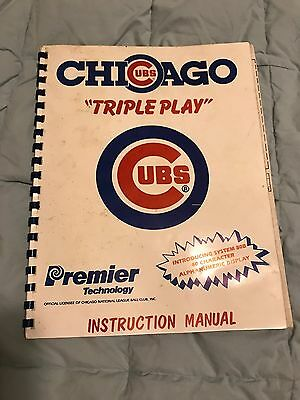 Chicago Cubs Triple Play Premier Technology Arcade Pinball Instruction Manual