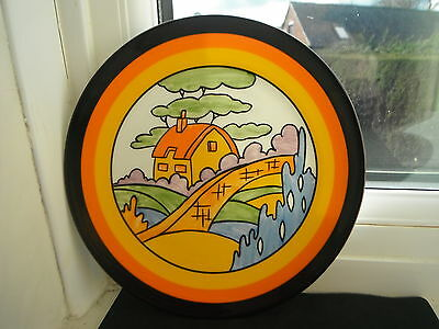 """CLARICE CLIFF """"ORANGE ROOF COTTAGE """" PLATE -  by WEDGWOOD"""