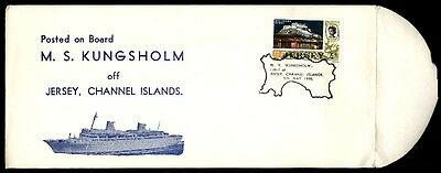 Jersy Mv Kungsholm 1970 Channel Islands Posted On Board Ship Cover