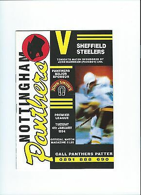 93/94 Nottingham Panthers v Sheffield Steelers Jan 4th