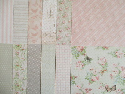 """Sample pack - Dovecraft Floral Muse 6x6"""" scrapbook backing papers x12"""