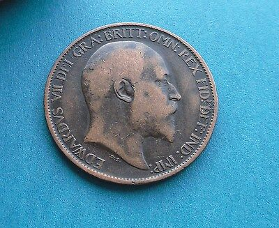 Edward VII Halfpenny 1907, Excellent Condition