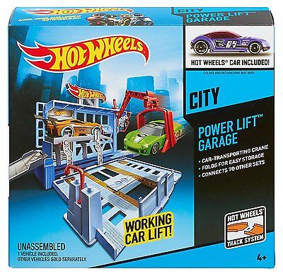 Hot Wheels City Power Lift Garage Play Set for ages 4 & up