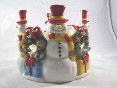 Snowman Candle Holder by Fannie May