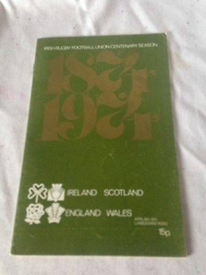 England Wales V Scotland Ireland  Rugby Rogramme Ex Cond 19/4/75 Lansdowne Road