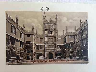 Oxford Bodleian Library & Schools Tower Postcard