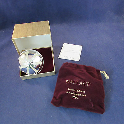 2006 Annual Wallace Silverplate Sleigh Bell Ornament 36th