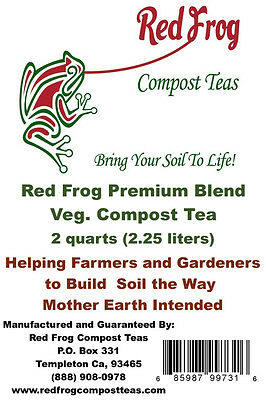 15lbs VEG Blend Compost Tea;No Additives Needed w/Red Frog! Amazing Results