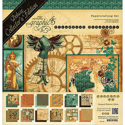 "Graphic 45 Deluxe Collector's Edition Pack 12""X12""-Steampunk Debutante G4501165"