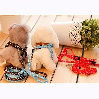 Adjustable Cat Puppy Harness With Lead Leash Pet Nylon Traction Rope
