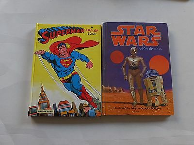 Superman, Star Wars, Guinness book of records, Hulk & Transformers pop-up books