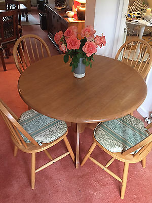Ikea Solid Oak Circular Table and 4 chairs