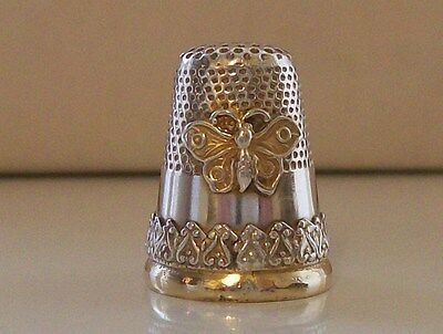 Nice Vintage 835 Silver Portuguese Thimble (Butterfly) Porto Assay Office