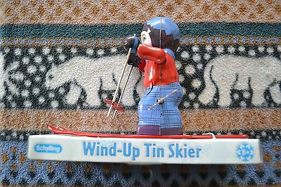 Collectable Wind-Up Tin Skier