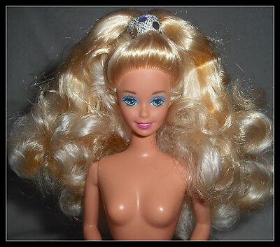 Nude Barbie Mattel Blonde Blue Eyes Superstar Holiday  Doll  For Ooak