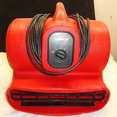 XPOWER X-600 Air Mover Carpet Dryer Fan RED