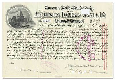 Atchison, Topeka and Santa Fe Railroad Company Bond Certificate
