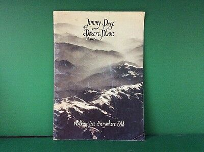 Jimmy Page & Robert Plant - Walking Into Everywhere 1998 Tour Book Program