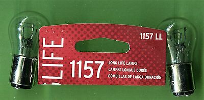 Two 1990's era Jeep Cherokee #1157LL Stop Light Replacement Bulbs