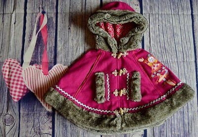 Oilily Baby Girls Designer Fur Trim Cape 1-2 Years Immaculate Condition