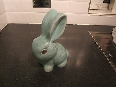 Stunning 100% Genuine Original Sylvac LARGE TURQUOISE EASTER BUNNY RABBIT 1028