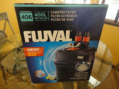 Fluval 406 External Canister Filter - Rated Up To 100 gallons,Aquarium,Fish Tank