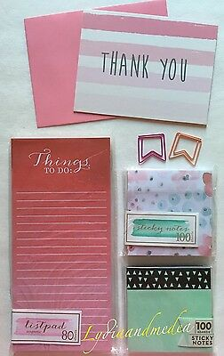 Target One Dollar Spot LOT Magnetic List Pad Sticky Notes Paper Clips