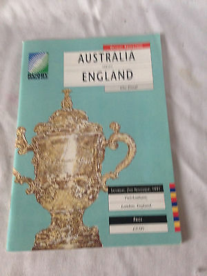 1991 - AUSTRALIA v ENGLAND - RUGBY WORLD CUP PROGRAMME EXCELLENT CONDITION O