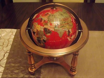 Red gemstone globe