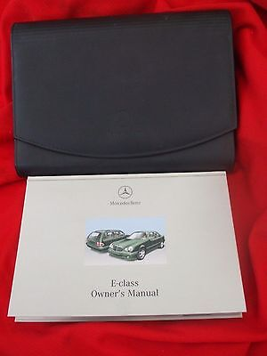 Mercedes E class  owners manual in leather wallet + radio 10 / 30 manual