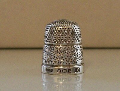 Henry Griffiths & Sons Silver Thimble Hallmarked Birmingham 1924
