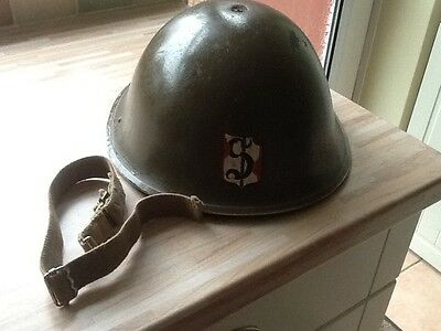 Vintage Metal Army Helmet - Lift The Dot - Possibly WW2 Turtle