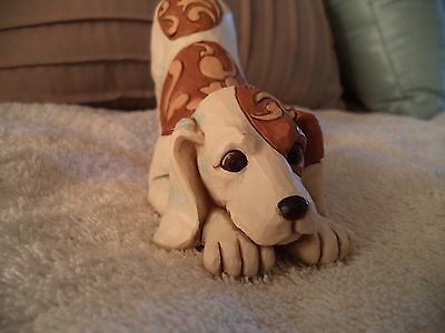 Jim Shore Spotted Bailey Dog Playing Figurine