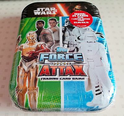 Topps Star Wars Force Attax Tin 24 Cards +1  Limited Edition #1
