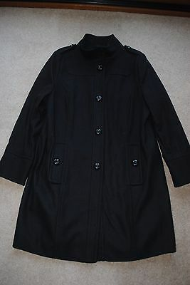 Wallis black wool coat size 18 worn twice excellent condition