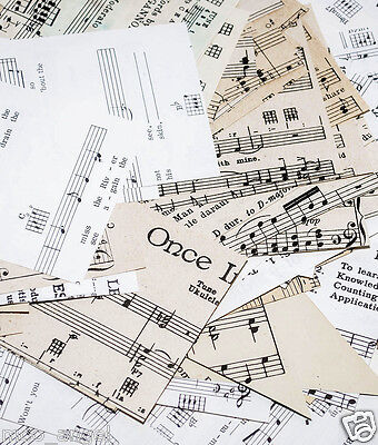 150 g pieces music scores songs sheets classical and hymns scraps decoupage