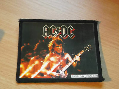 AC/DC.... Original Vintage Sew On/Photo Card Patch.... 1980`s
