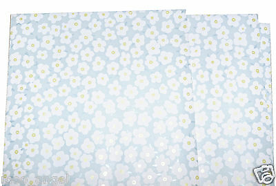 5 sheets of blue craft paper patterned with daisy flowers A4 handcut papercrafts