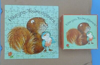 "Vintage American Publishing Corp. 80+ piece jigsaw puzzle ""Critter Sitters"""