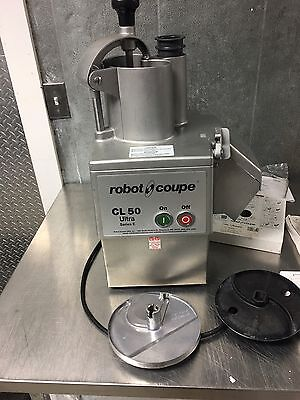 Robot Coupe CL50E Food Processor Plus Extra Grids, Slicers, and Grader